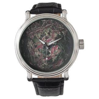 Bola rosada única antigua de la baratija de la relojes de mano
