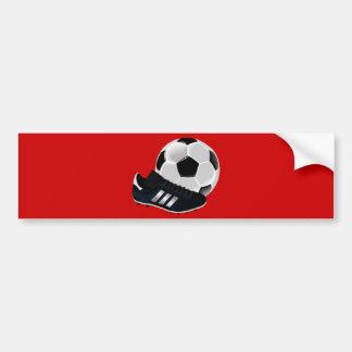 bola s de la bota del fútbol del fútbol del fútbol etiqueta de parachoque