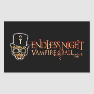 Bola sin fin del vampiro de la noche rectangular pegatina