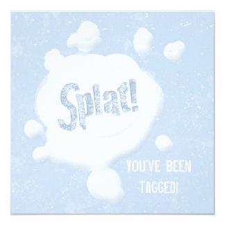 ¡Bola Splat de la nieve! Invitación del fiesta Invitación 13,3 Cm X 13,3cm