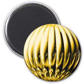 Bola texturizada oro imán redondo 5 cm