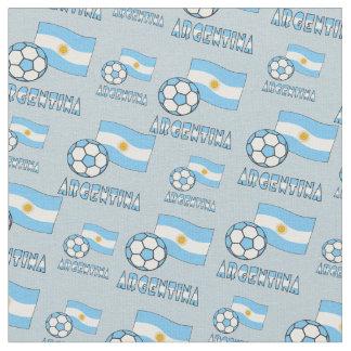 Bola y bandera de fútbol de Argentina Telas