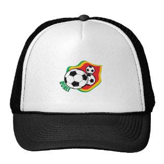 Bola y bandera de fútbol gorro
