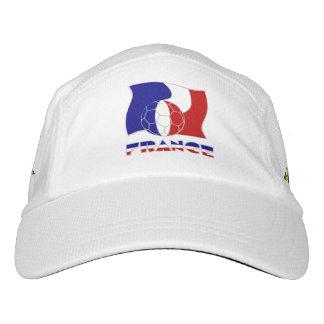 Bola y bandera francesas de fútbol gorras de alto rendimiento
