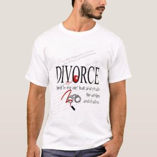 Bola y cadena del divorcio playera