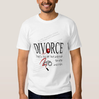 Bola y cadena del divorcio playeras