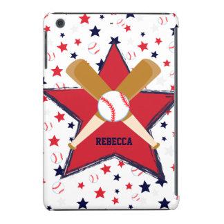 Bola y estrellas personalizadas de bates de funda de iPad mini