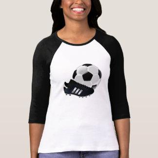 Bola y listones de fútbol remera