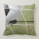 Bola y meta de fútbol almohadas
