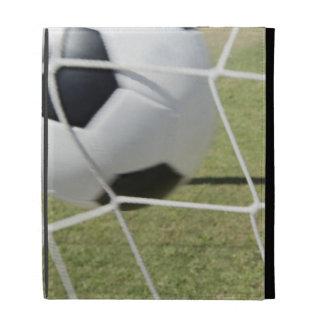 Bola y meta de fútbol