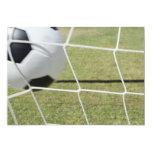 """Bola y meta de fútbol invitación 5"""" x 7"""""""