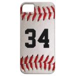 Bola y número del béisbol iPhone 5 Case-Mate carcasas