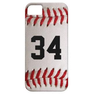 Bola y número del béisbol iPhone 5 funda