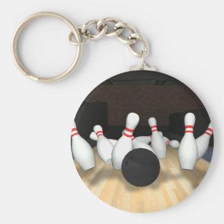 Bola y pernos de bolos: modelo 3D: Llavero Redondo Tipo Pin