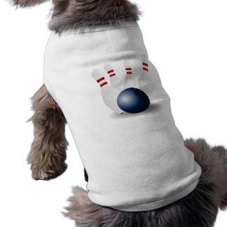 Bola y pernos de bolos camiseta de perrito