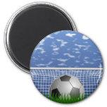 Bola y red de fútbol imán de frigorifico