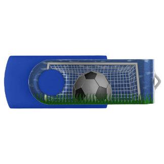Bola y red de fútbol pen drive giratorio USB 2.0