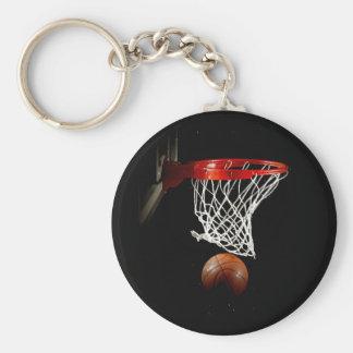 Bola y red del baloncesto llavero personalizado
