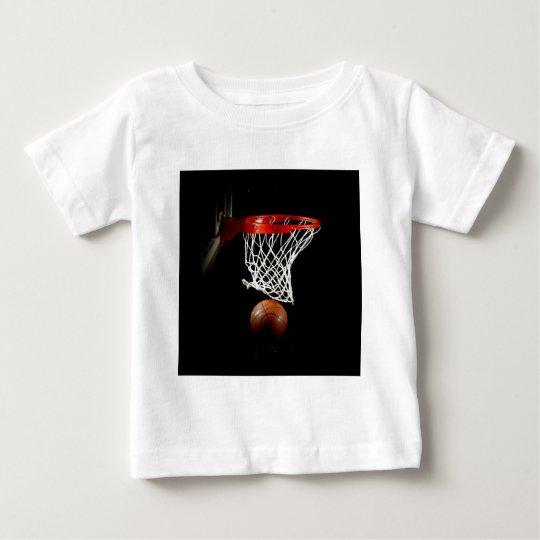 Bola y red del baloncesto playera de bebé