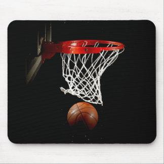Bola y red del baloncesto tapetes de raton