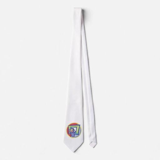 Bola y tablero trasero corbatas