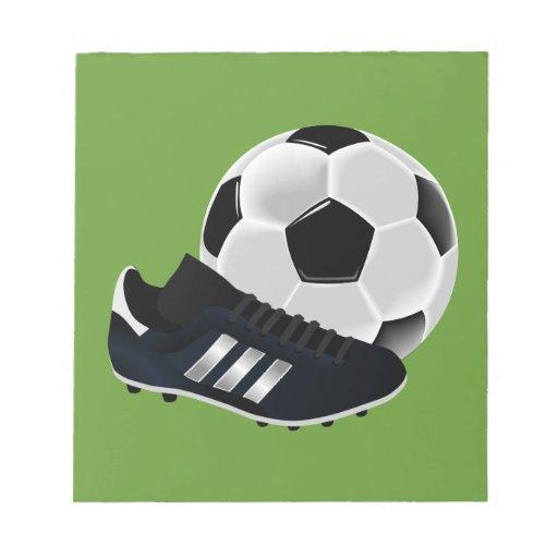 Bola y zapato de fútbol libretas para notas