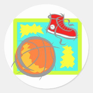 Bola y zapatos pegatina redonda