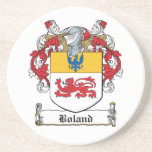 Boland Family Crest Drink Coasters