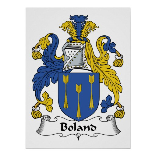 Boland Family Crest Poster