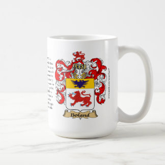 Boland, the Origin, the Meaning and the Crest Classic White Coffee Mug