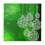 Bolas 2 de las Felices Navidad Tejas Cerámicas
