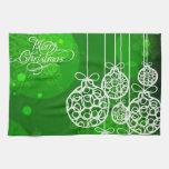 Bolas 2 de las Felices Navidad Toallas De Mano