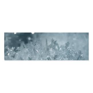 Bolas 2, etiqueta de la nieve del regalo tarjetas de visita mini