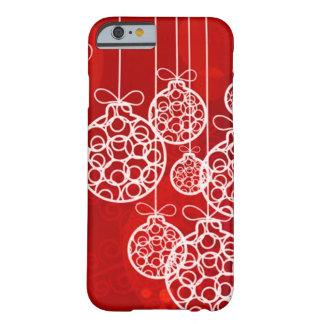 Bolas 4 de las Felices Navidad Funda De iPhone 6 Barely There