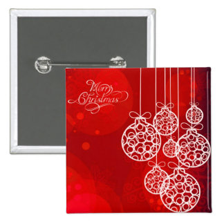 Bolas 4 de las Felices Navidad Pin