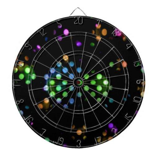 Bolas abstractas multicoloras tablero dardos
