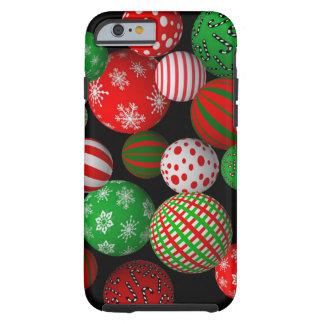 Bolas adaptables del navidad 3D Funda De iPhone 6 Shell