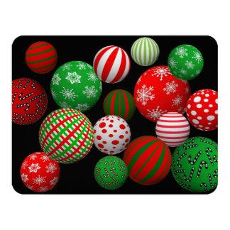 Bolas adaptables del navidad 3D Invitación