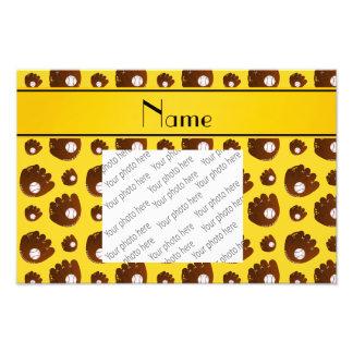Bolas amarillas conocidas personalizadas de los impresión fotográfica