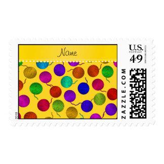 Bolas amarillas conocidas personalizadas del sello