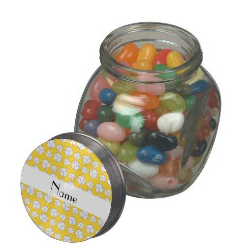 Bolas amarillas conocidas personalizadas del volei jarras de cristal