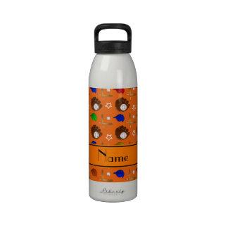 Bolas anaranjadas conocidas personalizadas de los botellas de beber