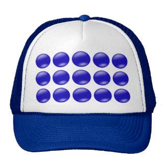 Bolas azules gorra