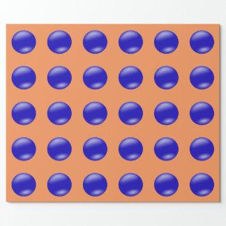 Bolas azules papel de regalo