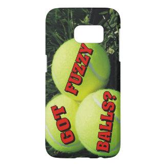 ¿Bolas borrosas conseguidas divertidas? Tenis Funda Samsung Galaxy S7