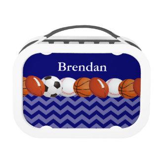 Bolas Chevron azul de los deportes personalizado