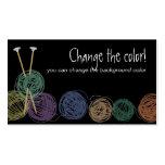 Bolas coloridas de las tarjetas de visitas de las