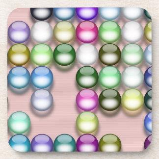 Bolas coloridas posavaso