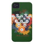 Bolas de billar de la piscina iPhone 4 coberturas