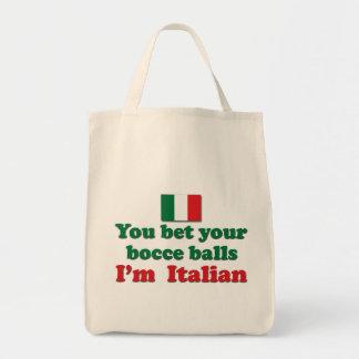 Bolas de Bocce del italiano Bolsa Tela Para La Compra